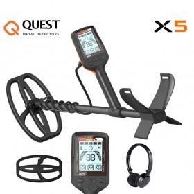 Détecteur de métaux Quest X5 et casque sans fil