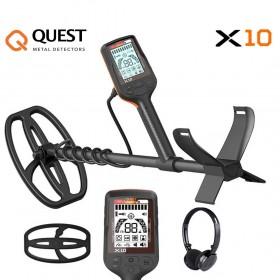 Détecteur de métaux Quest X10 avec casque sans fil