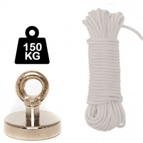 Aimant 150kg + corde 25m/10mm