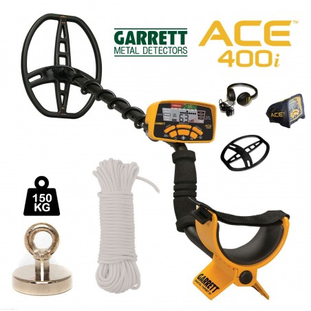Garrett Ace400i + Aimant 150Kg + Corde 25m/10mm
