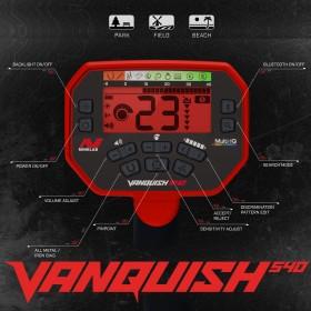 Écran de contrôles du Vanquish 540 (rétro éclairage rouge)