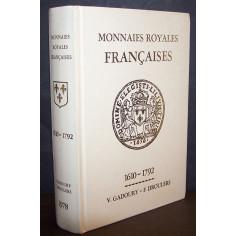 Couverture du livre des monnaies royales Françaises.