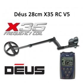 Détecteur de métaux XP Déus X35 28cm avec télécommande RC V5