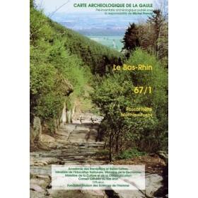 Carte archéologique du Bas-Rhin (68)
