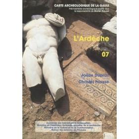 Carte archéologique de l'Ardèche (07)
