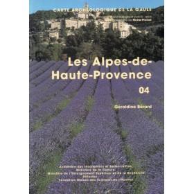 Carte archéologique des Alpes de haute Provence (04)