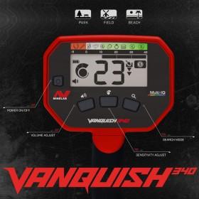Écran de contrôles du Vanquish 340